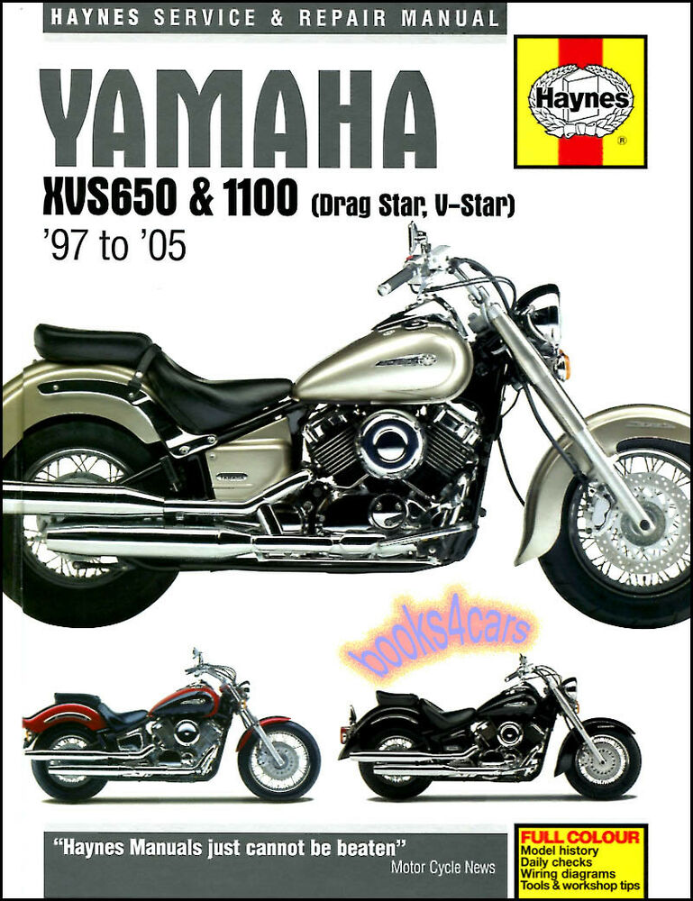 yamaha xvs 650 1100 v star drag star shop service repair. Black Bedroom Furniture Sets. Home Design Ideas