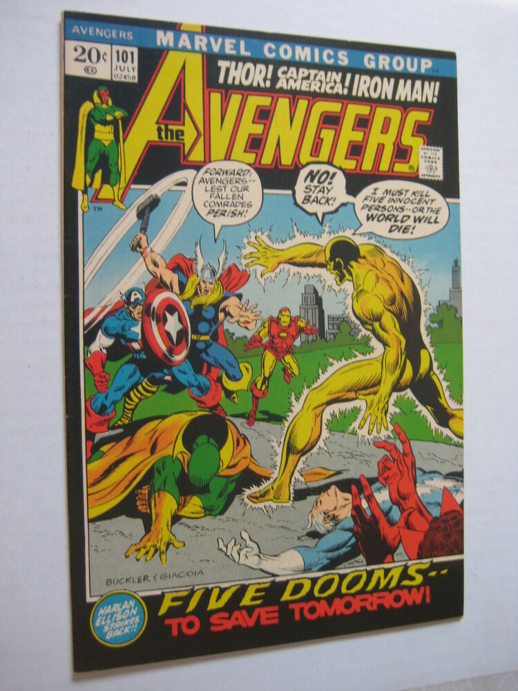 Vintage Old Collectible Marvel Comic Book Avengers101 NM ...