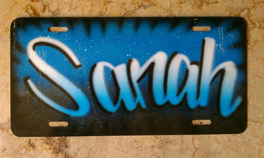 Airbrush Custom License Plate Car Tag Personalized Your