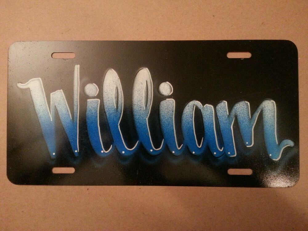 Airbrush Custom License Plate Car Tag Personalized Name