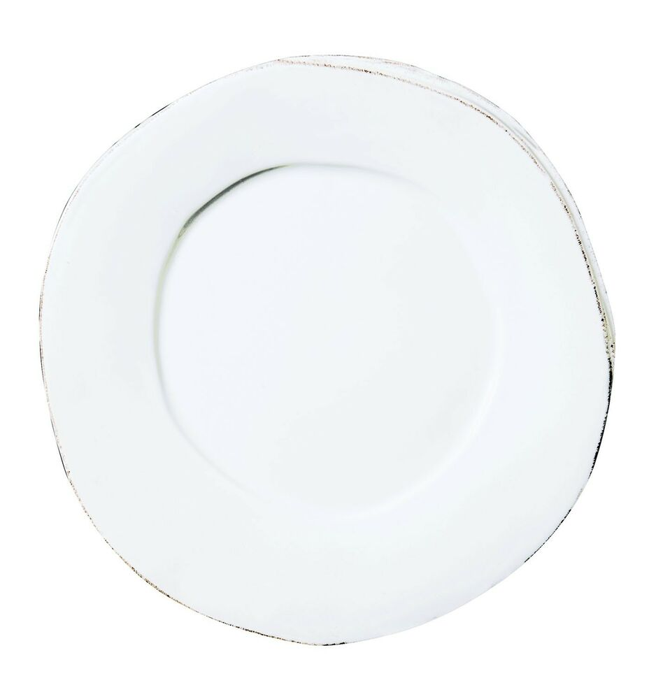NEW Italian VIETRI Dinnerware Lastra WHITE 12 Dinner Plate Set Of 4 EBay