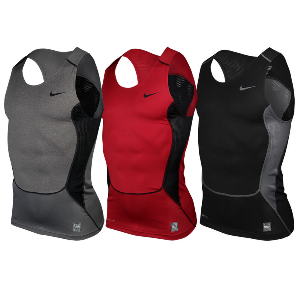Nike pro combat dri fit stay cool hypercool compression for Nike men s pro cool sleeveless shirt