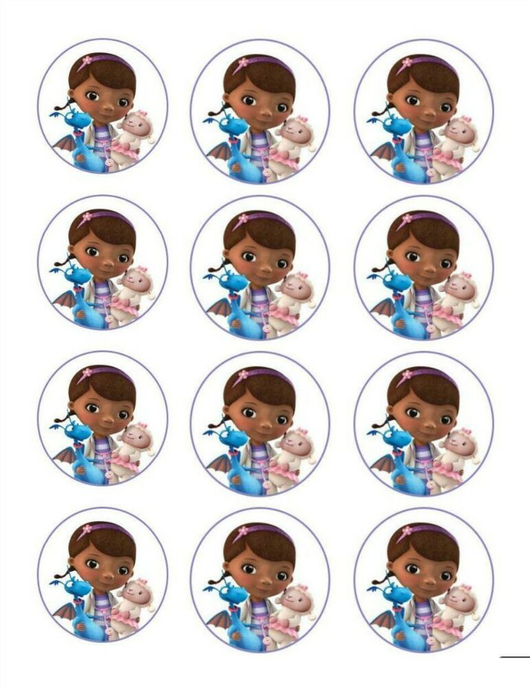 Doc McStuffins Edible Image Cupcake Toppers 12 Per Sheet EBay