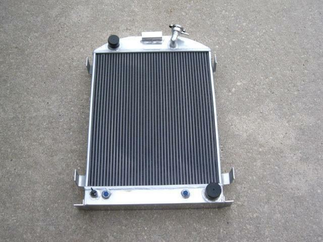 32 Street Rod 3 Row Aluminum Radiator Chevy Outlets Trans