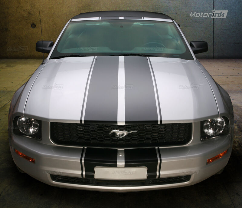 2005 2009 Ford Mustang Convertible Double Rally Stripes Racing Decals 06 07 08 Ebay