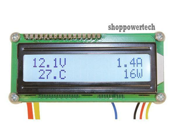 12 Volt Panel Meter : Battery monitor v a dc lcd digital amp volt power