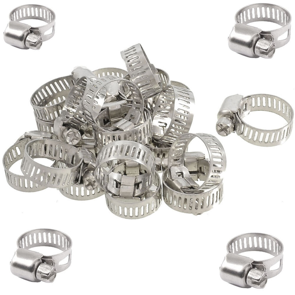 Pcs stainless steel adjustable drive hose clamps fuel
