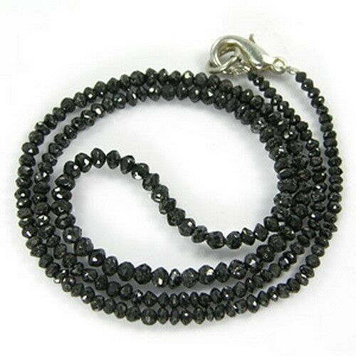 24.56 Cts AWESOME POLISHED NATURAL BLACK DIAMOND FACETED ...