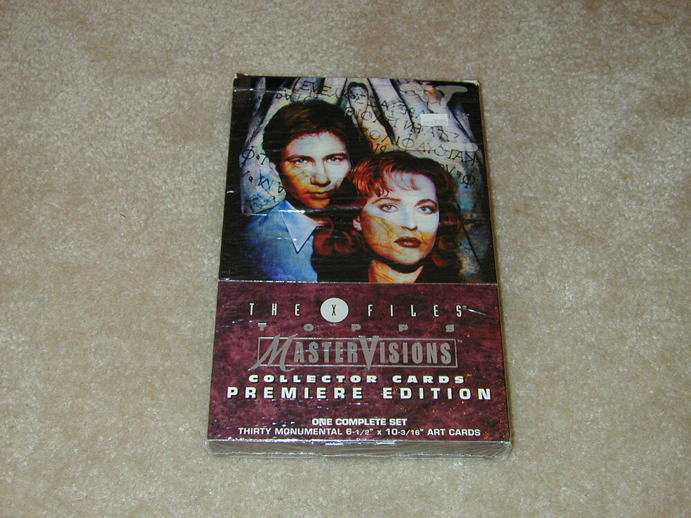 topps x files mastervisions collector cards premiere edition boxed set ebay. Black Bedroom Furniture Sets. Home Design Ideas