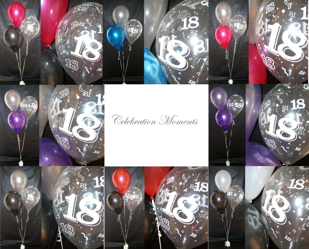 Happy 18th birthday party helium balloon decoration diy for 18th birthday decoration