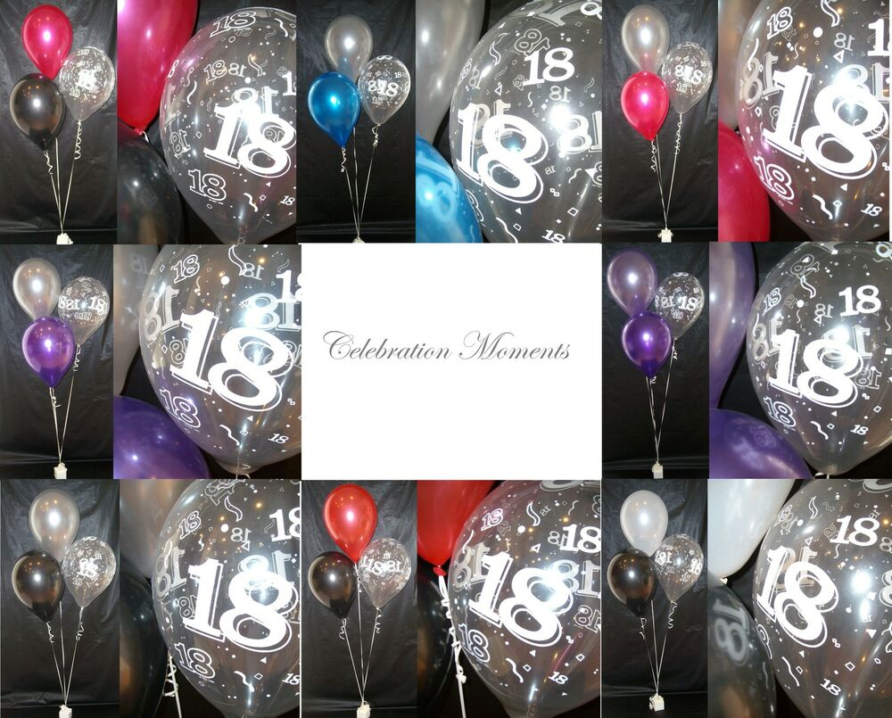 Happy 18th birthday party helium balloon decoration diy for Balloon decoration kits