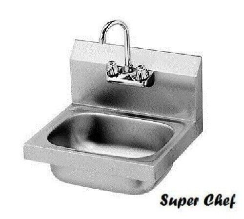 New Commercial Kitchen Stainless Steel Wall-Mount Hand Sink w/ Faucet ...