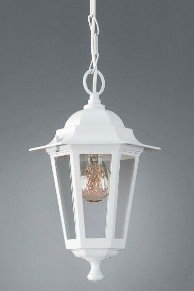 Classic Outdoor Lantern Porch Patio Pendant Light Garden Hanging Lamp White 1