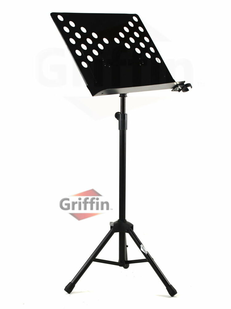 music conductor stand sheet metal tripod holder folding stage griffin ebay. Black Bedroom Furniture Sets. Home Design Ideas