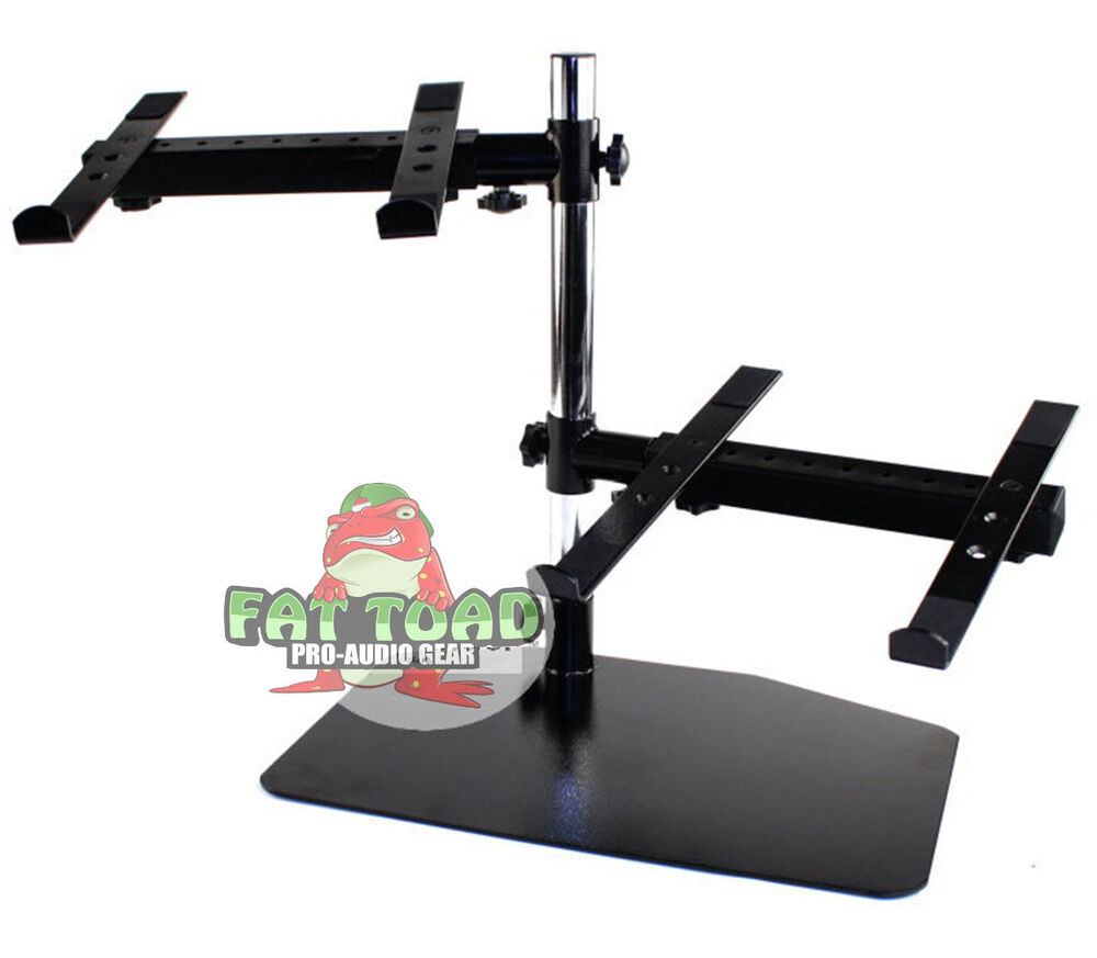 Double Dj Laptop Stand 2 Tier Pa Equipment Pc Table