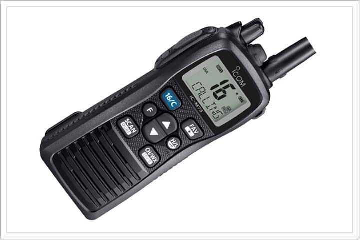 icom ic m73 01 vhf marine portable radio ebay. Black Bedroom Furniture Sets. Home Design Ideas