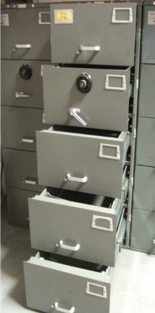 Safe Heavy Duty Mosler Gsa 5 Drawer File Cabinet