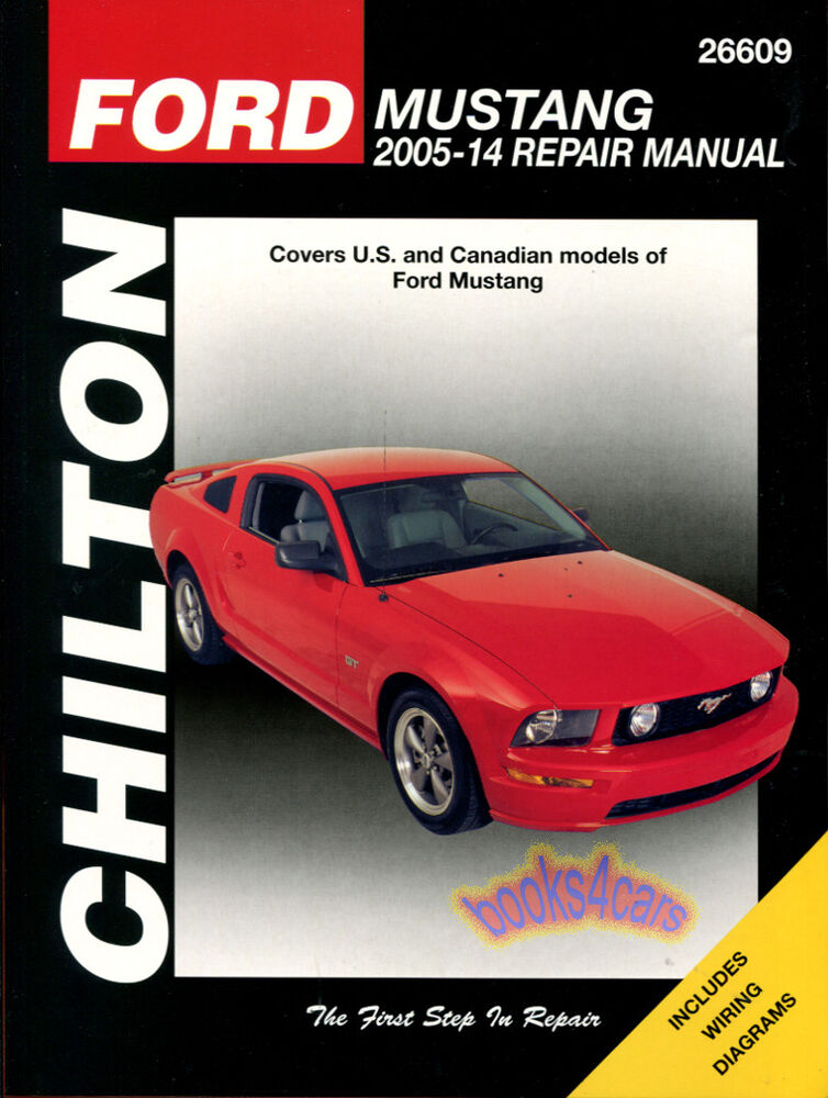 Shop Manual Mustang Service Repair Chilton Ford Book Gt