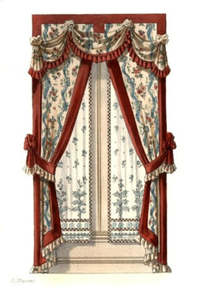 Victorian Curtains 4 Counted Cross Stitch Pattern 427