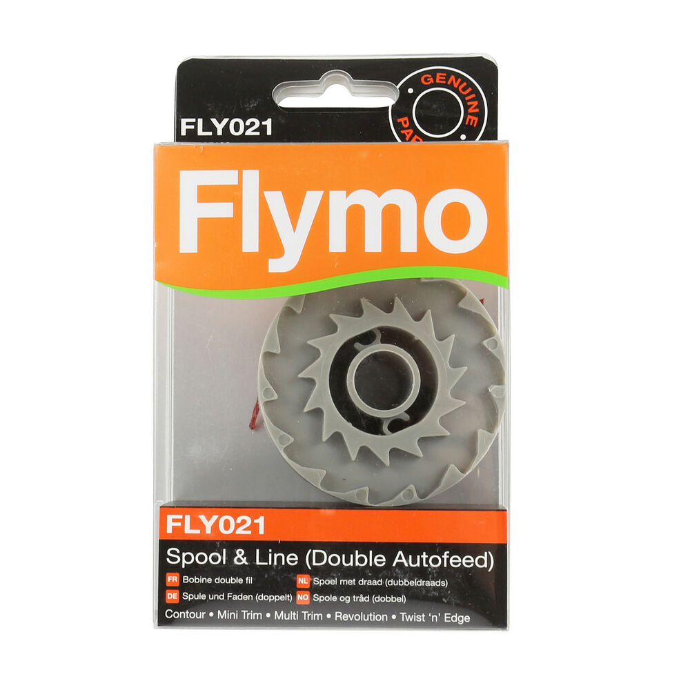 genuine flymo contour 500 xt double autofeed strimmer. Black Bedroom Furniture Sets. Home Design Ideas