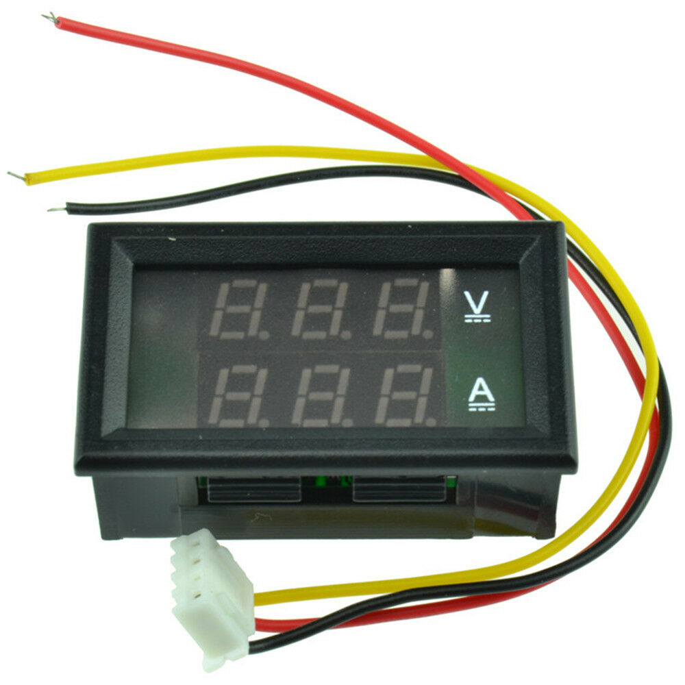 L De Voltage Meter : Dc v a dual led digital volt meter ammeter