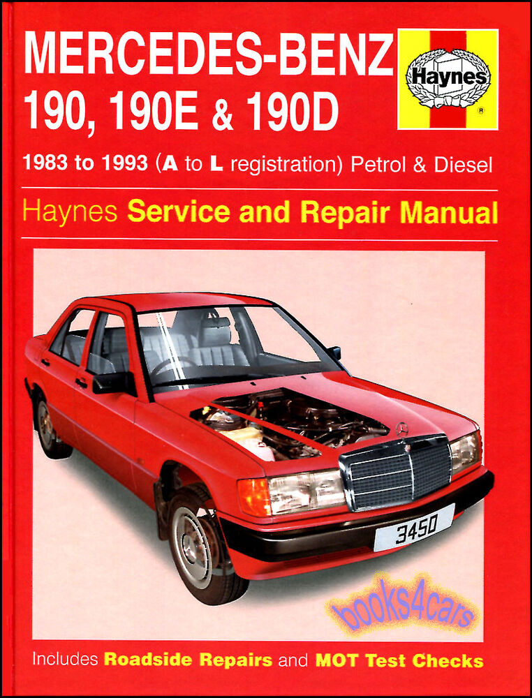 Shop manual mercedes 190 service repair book 190e 190d for Mercedes benz online repair manual
