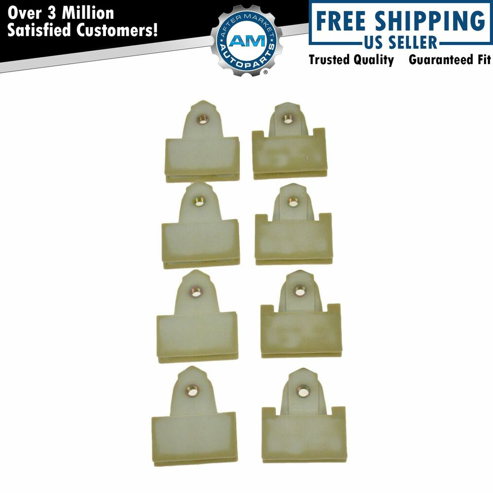 Window regulator sash connectors 8 piece set for pontiac alero grand am ebay for 1999 pontiac grand am window regulator