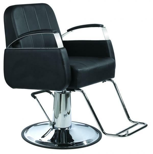 New black modern hydraulic barber chair styling salon for Salon styling chairs wholesale
