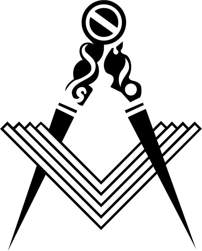 Fellow Craft Masonic Vinyl Decal Sticker Car Window Wall
