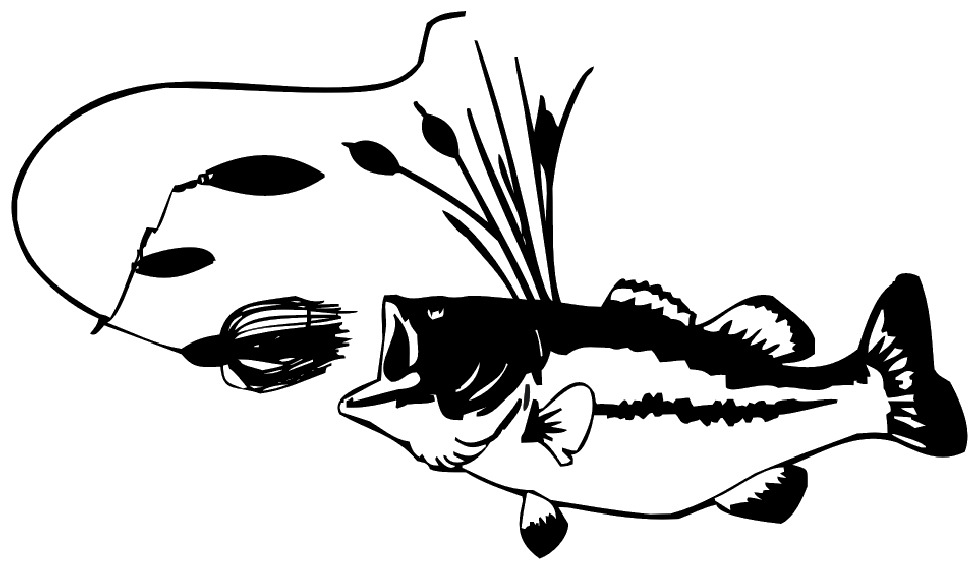 Bass and bass bait decal fishing truck boat vinyl stickers for Bass fishing decals
