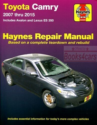 shop manual service repair haynes toyota lexus book es350 camry rh ebay com 2001 Toyota Camry Engine 2001 toyota camry xle owners manual