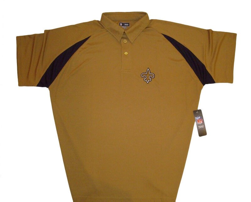 New Orleans Saints Nfl Mens Casual Polo Shirt Big Tall