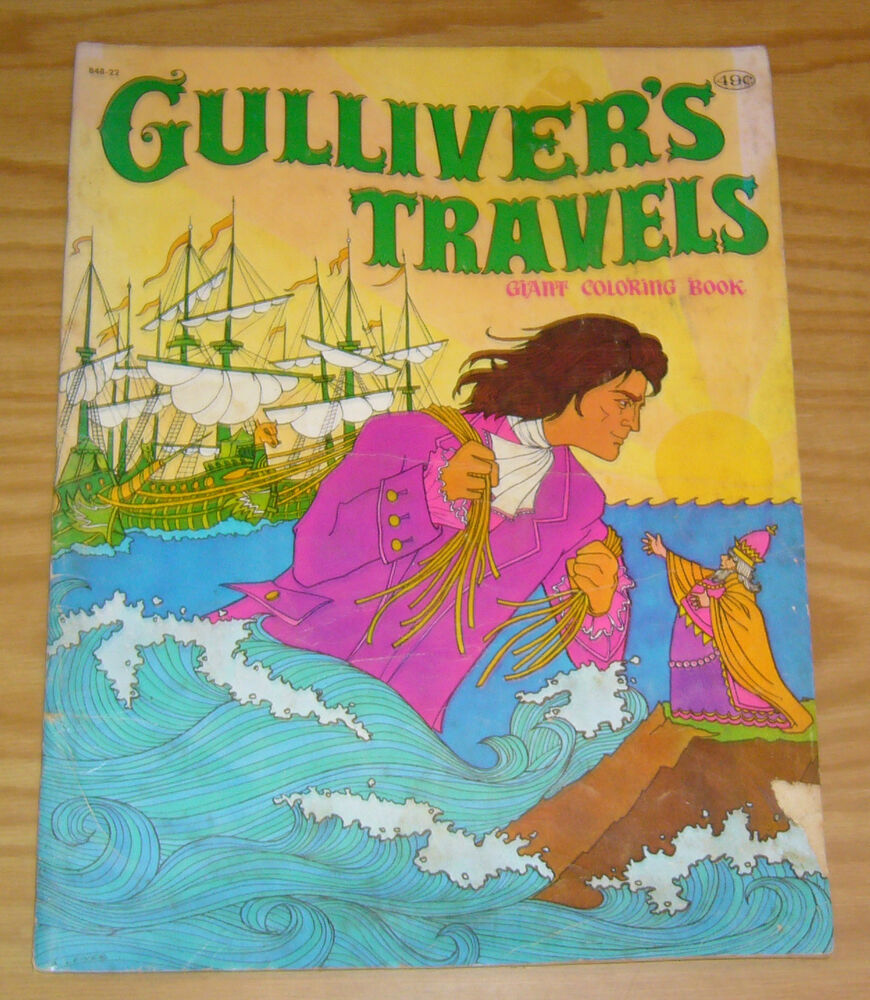 Gulliver S Travels Book Cover Drawing : Gulliver s travels giant coloring book b vg a