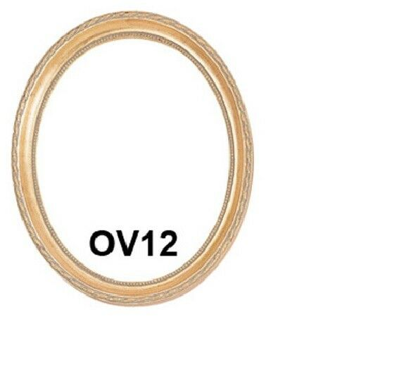Picture Frame Oval Gold Leaf Finish 11x14 11 X 14 Ebay