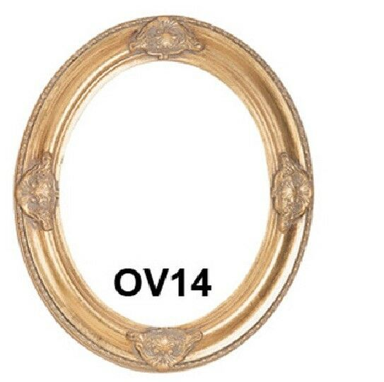 Picture Frame Oval Antique Gold Ornate 11x14 11 X 14 Ebay