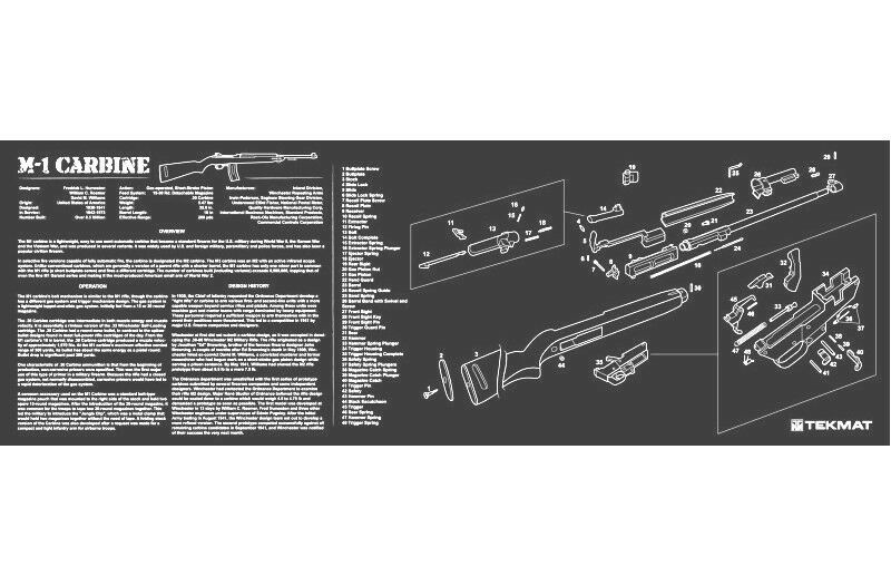M1 Carbine Armorers Gun Cleaning Bench Mat W Exploded View