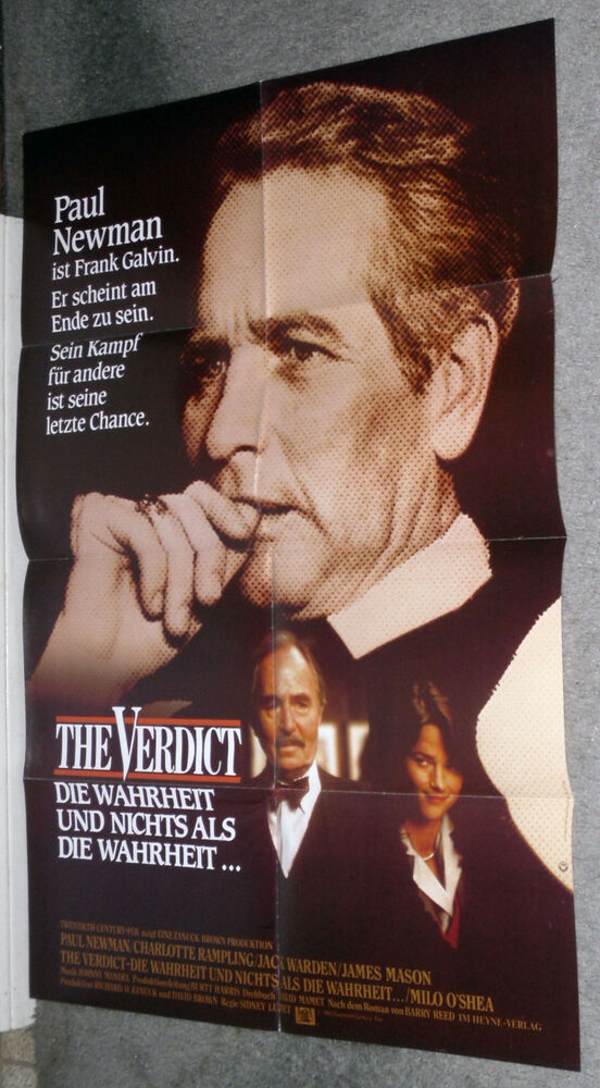 the verdict originalrare movie poster paul newman