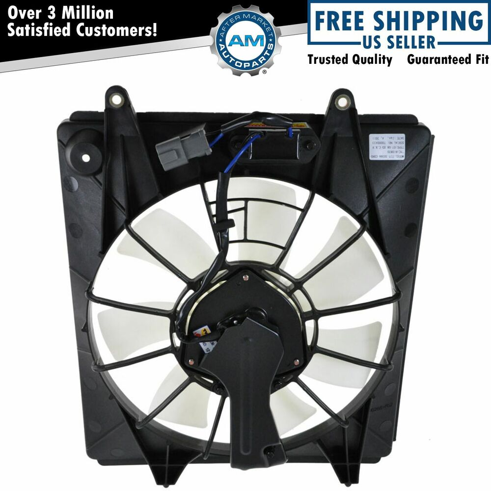 Ac a c condenser cooling fan w motor assembly 7 blade for for Radiator fan motor price