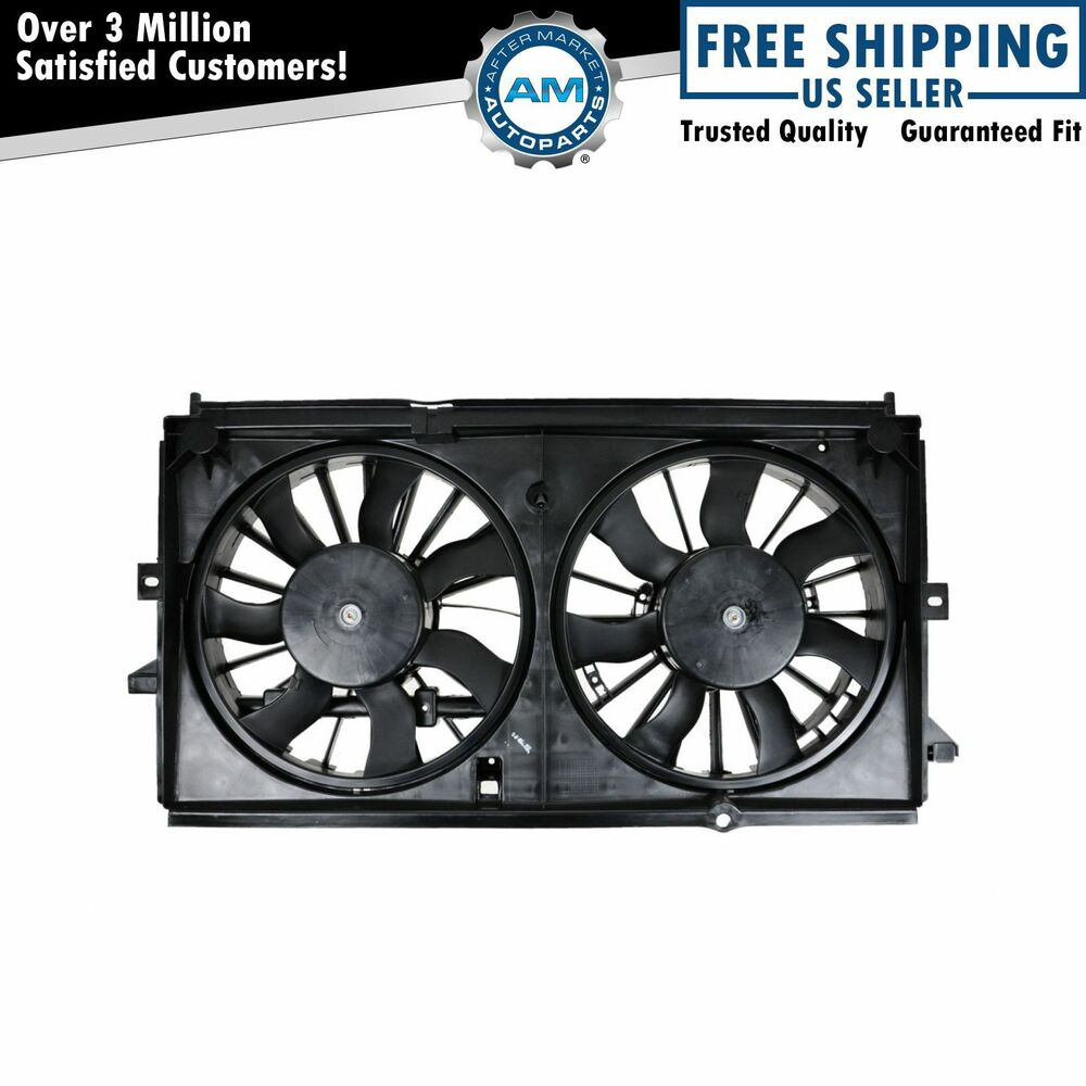 Dual Radiator Cooling Fan For 00 02 Chevy Impala W Heavy