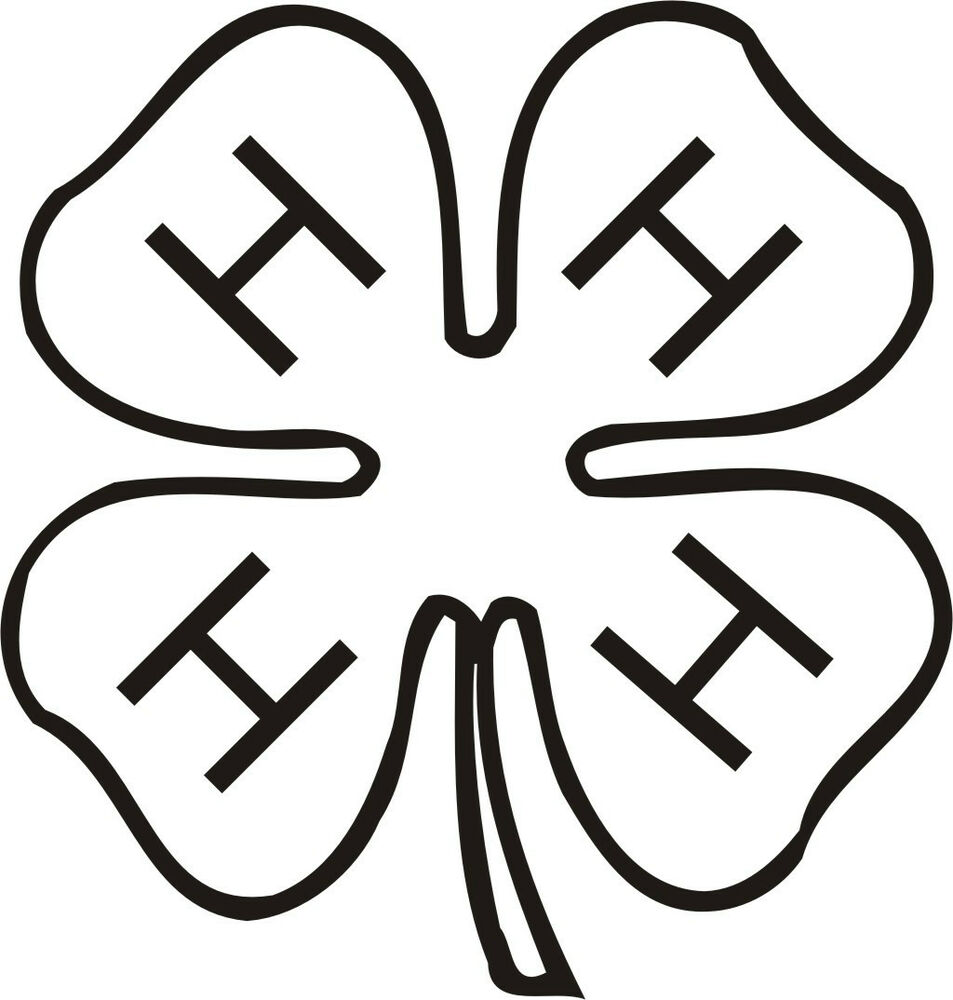 4H Clover Symbol Vinyl Decal Sticker Car Window Wall Printed | eBay