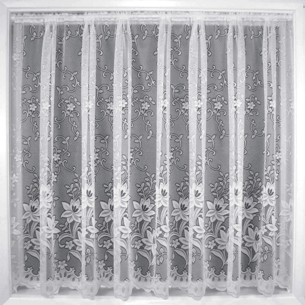 White Floral Net Curtain Lace Curtains Lagos Sold By