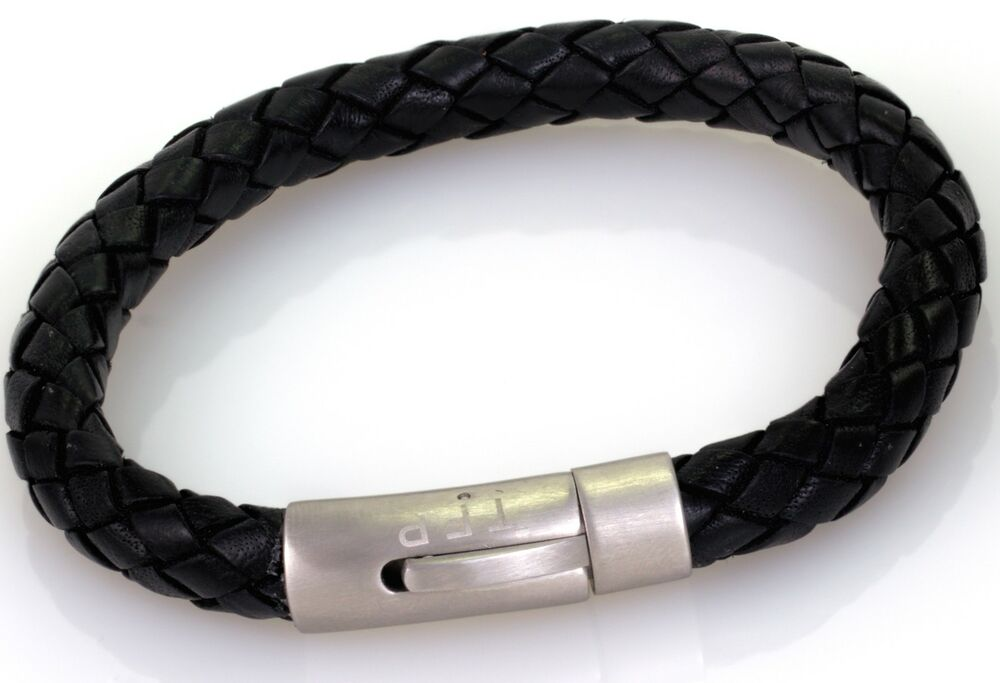 strength bracelet bionic strength energy black leather 8mm balance band 6184