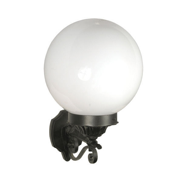 Tp Lighting Black White Opaque Orb Wall Light Sconce Home