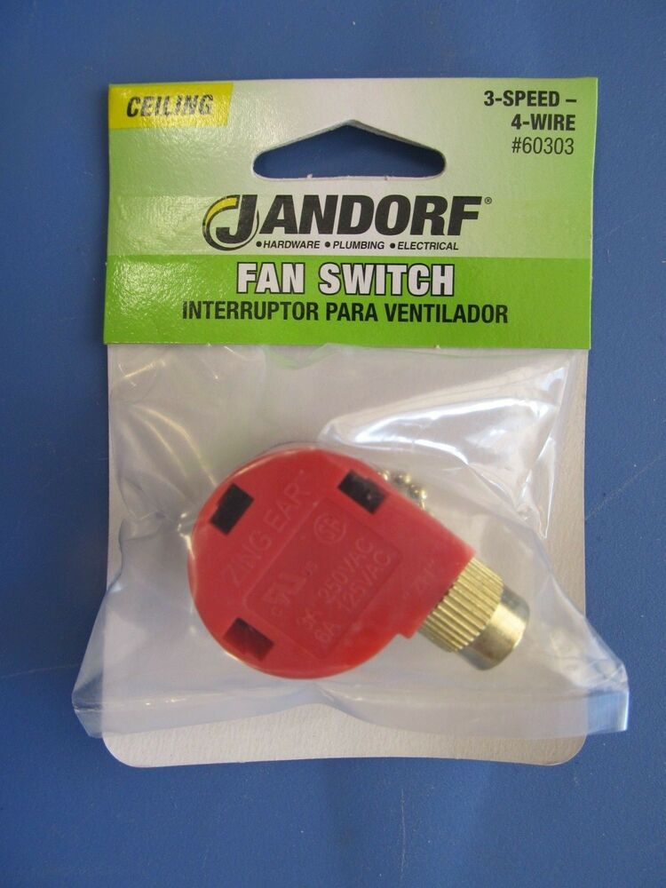 jandorf 3 speed ceiling fan switch pull chain 60303 new