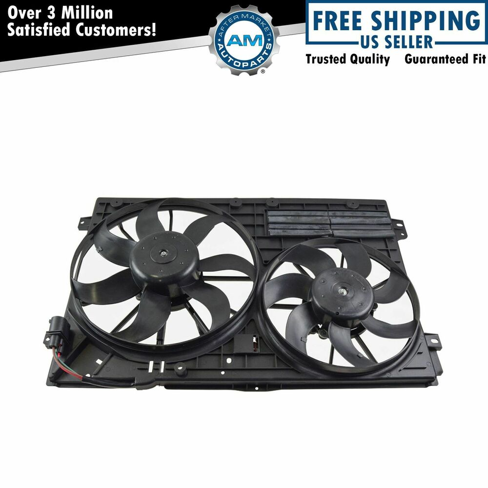 Radiator Cooling Fans : Radiator cooling dual fan assembly for a tt jetta passat