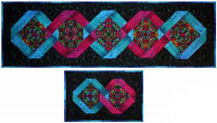 Table Runner with a Twist Quilt Pattern Placemat Design DIY Quilting Tablerunner