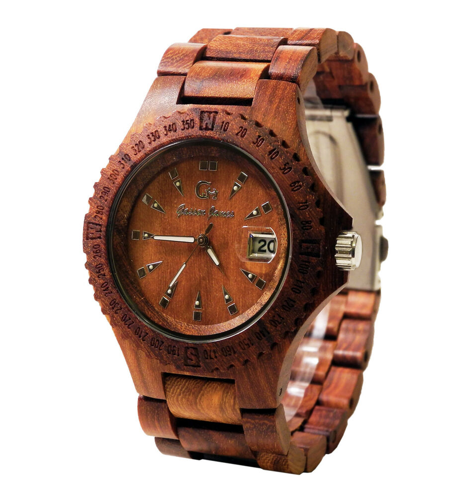 Gassen James Wooden Wrist Watch band and case made of wood ...