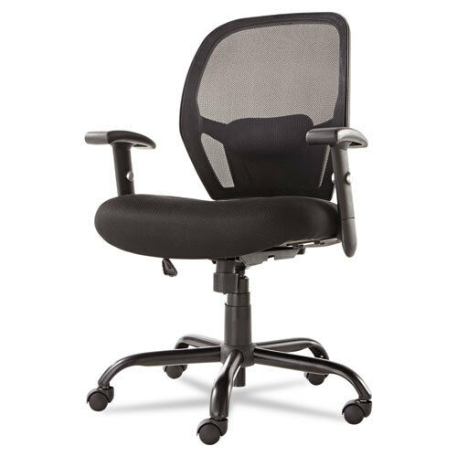 black mesh thickly padded office chair 450 lbs capacity perfect for