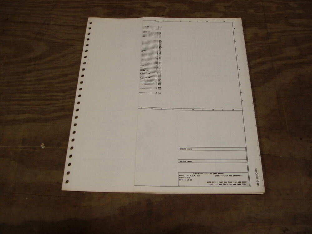 1977 Ford C700 C800 C900 Cab Over Wiring Diagram Schematic Sheet Service Manual