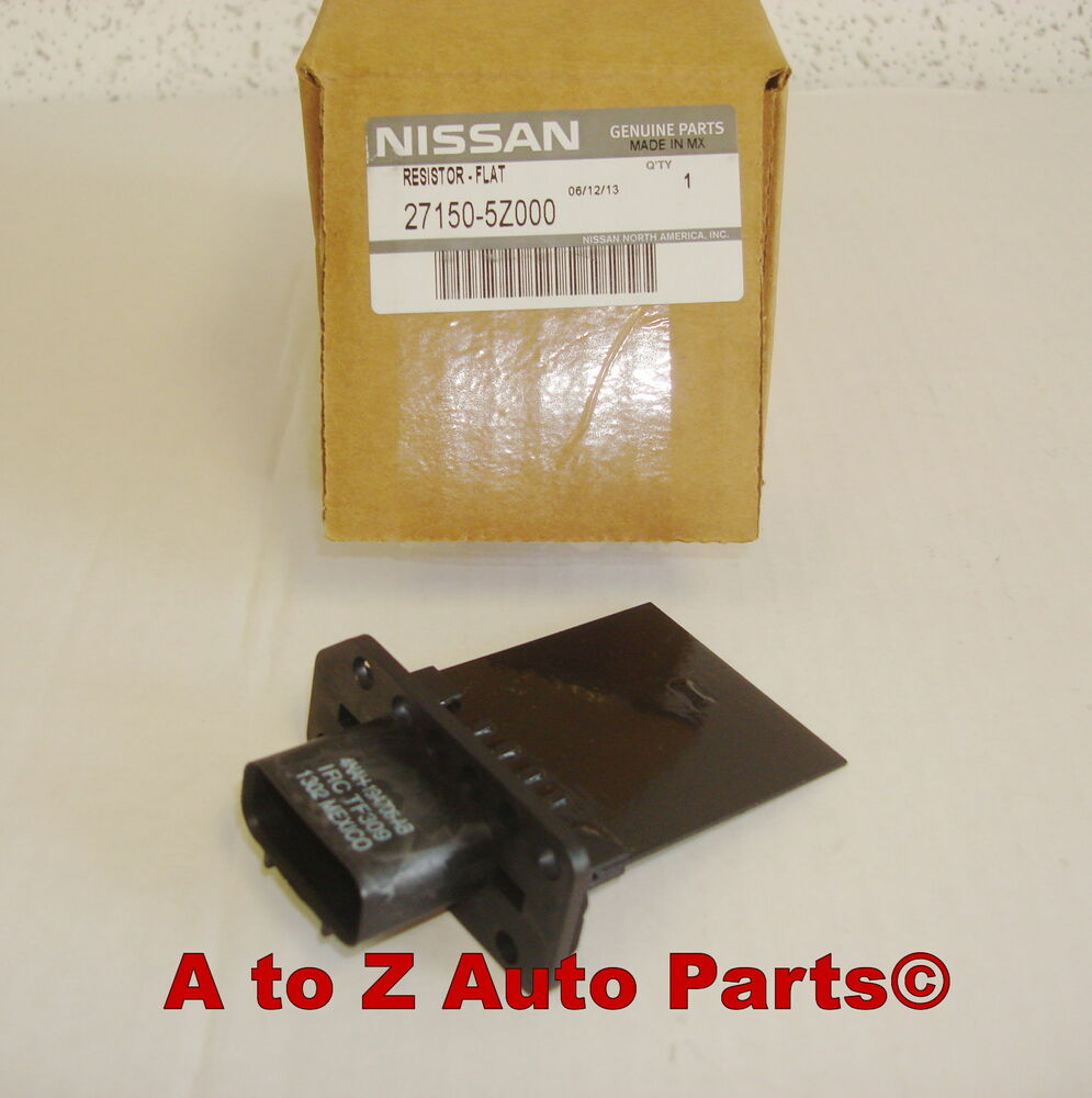 New nissan frontier xterra titan armada pathfinder etc for Nissan quest blower motor resistor